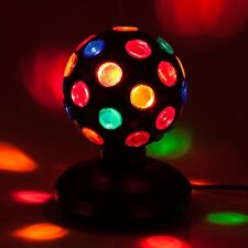 """Black 5"""" Inch Rotating Disco Ball Fun Retro Party Decor DJ Stage Room Effects"""