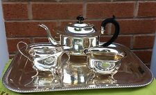 Silver plated made in England tea set and serving tray