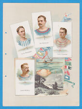 1887 A16 Allen & Ginter World's Champions ser 1 album page Rowing w/ HANLAN, TEE