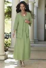 Green Goddess Beaded Jacket Dress Formal NEW size Large Mother of the Bride