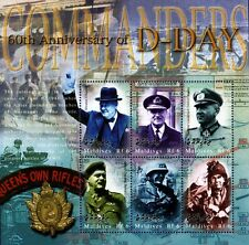 WWII Commanders (Churchill) 60th Anniversary of D-Day Stamp Sheet/2004 Maldives