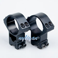 Heavy duty 2X See Through 30mm Ring 11mm Rail Mount for Rifle Scope Torch New