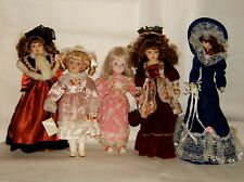 LOT DE 5 POUPEE DE COLLECTION TETE PORCELAINE VETEMENT ET COIFFE D'ORIGINE lot 4