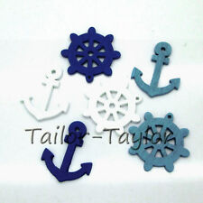50pcs Mixed Wooden Buttons  Anchor Shape Sewing Crafts Decoration DIY 25mm
