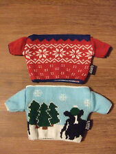 Rare Promotional 2 x Ben & Jerry Sweaters for Ice Cream Pots (Keep Fingers Warm)