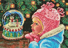 Cross Stitch Kit Gold Collection Petites Christmas Wishes Little Girl #70-08936