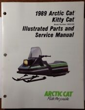 1989 ARCTIC CAT KITTY CAT Snowmobile Parts & Service Manual # 2254-486