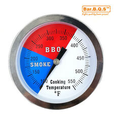 """3"""" 550F BBQ GRILL SMOKER PIT THERMOMETER SS THERMOSTAT PIT TEMP GAUGE 1 Pack"""