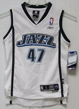 NWT NBA REEBOK SWINGMAN JERSEY - ANDREI KIRILENKO UTAH JAZZ WHITE YOUTH SMALL