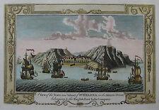 St. Helena - Ansicht der Insel von G.A. Baldwyn - Originaler Kupferstich 1794