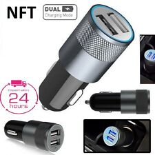 2 IN 1 UNIVERSAL LED USB 12v DUAL CAR CHARGER CIGARETTE SOCKET LIGHTER BLACK