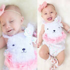 Newborn Baby Girl Clothes Cute Bear Bodysuit Romper Jumpsuit Outfits One-pieces