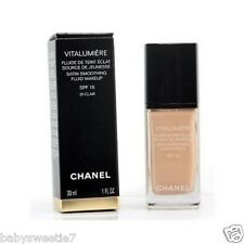 Chanel VITALUMIERE SATIN SMOOTHING FLUID MAKEUP #30 CENDRE SPF 15 30ml NIB