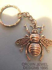 Large Handmade Tibetan Silver Honey Bee Keyring Organza Gift Bag Bee Keeping