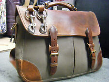vintagel HOLLAND Brothers Leather canvas Attache Briefcase Messenger  Bag