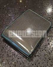 Green Premium Carbon Fiber Wallet Trifold Real Leather w212 mens s6 993 930 m6