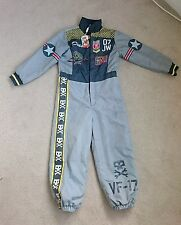 Disney store planes Dusty pilot fancy dress costume jumpsuit age 7-8 years New