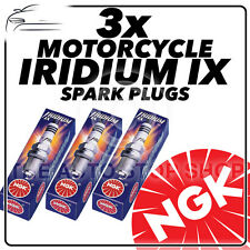 3x NGK Iridium IX Spark Plugs for TRIUMPH 675cc Street Triple R 08-  #3521