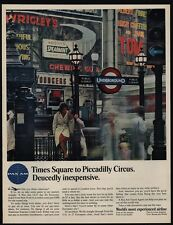 1965 PAN AM Airlines - Times Square To Piccadilly Circus -  VINTAGE AD