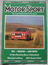Motor Sport 02/1988 featuring BMW M3, Ford Sierra Cosworth RS500, Bentley