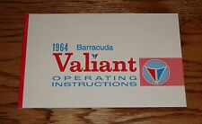 1964 Plymouth Valiant & Barracuda Owners Operators Manual 64
