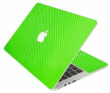 LidStyles GREEN CARBON FIBER Vinyl Laptop Skin Decal MacBook Original 13 A1181