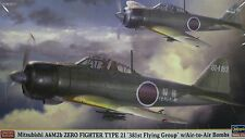 1/48 Mitsubishi A6M2b Zero Fighter Type 21 ( 381st Flying Group ) by Hasegawa