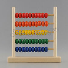 Colorful 5-Row Wooden Abacus Child Calculate Math Teaching Tool Kid Toy New Z