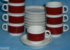 Set Of 8 IPA Italy Espresso Coffee Cup & Saucer - 3 Oz Durable Restaurant Grade