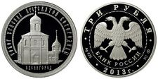 RUSSIA: 3 Rublos plata 2013  The Assumption Cathedral on Gorodok. Russland