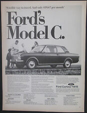 Ford Cortina Model C East Coast Dealer 1967 Vintage Print Ad