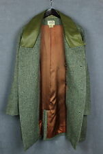 HERMES Men's Vintage Wool Shell Luxury Coat Leather Collar [SZ 52 or ~XXL*] VGC!