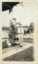 Vintage Old 1920's Photo Man Cecil Whittney House at 608 L. Street Fresno CA.