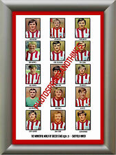 SHEFFIELD UNITED - 1970-71 - REPRO STICKERS A3 POSTER PRINT