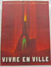 Jean-Michel Folon Poster Man Encased in Bricks Revealing Building Scandals 16x11