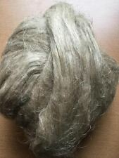 Unbleached, undyed flax / linen fiber roving, combed flax. 2OZ.