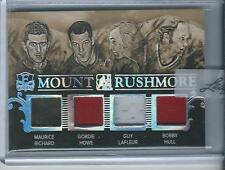 2015-16 Leaf ITG Enshrined Richard Howe Lafleur Hull Mount Rushmore Jersey 1/1