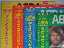 LOT OF 4 ALL PROMO UN-PLAYED  / ABBA DISCO SPECIAL DANCING SOUNDS / COLOR VINYLS