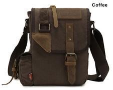 Canvas Leather Crossbody Carry Case Military Sling Bag Messenger Shoulder Bag