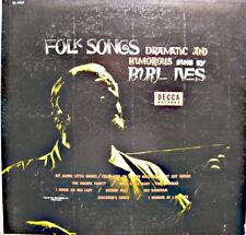 BURL IVES folk songs dramatic and humorous LP 25cm 1953 DECCA goober peas VG++