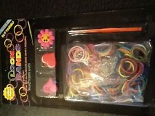 lot NEON rainbow bright 300 rubber BANDS 3 charms10 clips DIY LOOM bracelet RING