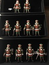 Kim Seybert Nutcracker Napkin Rings Set 10. NIB
