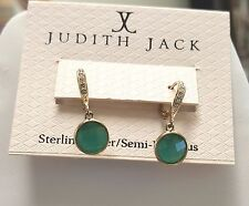 new nwt Judith Jack Earrings Swarovski Marcasite 925 Sterling Silver $98 gold