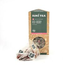 PACK OF 15 SUKI RED BERRY TAG PYRAMID TEA BAGS - ALSO MAKES GREAT ICED TEA