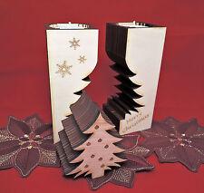 Teelichthalter Holz-Tannenbaum mit Gravur individuell gestalten - Geschenk