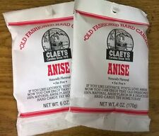 Claeys Anise Old Fashioned Hard Candy 2 PACK 6oz Bags FAST SHIPPING