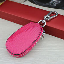 New Woman Unisex Genuine Leather Car Remote Key Chain Bag Case Holder Cover
