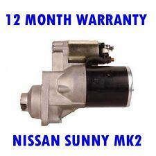 NISSAN SUNNY MK2 MK II 1.6 1986 1987 1988 1989 - 1991 RMFD STARTER MOTOR