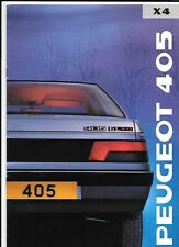PEUGEOT 405 GL X4 SALES BROCHURE APRIL 1989