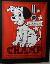 "1 Disney 101 Dalmations ""Champ"" Wallhanging/Baby Panel  Fabric"